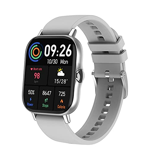 L.B.S 2021 DT94 Reloj Inteligente con Llamada Bluetooth Mujeres Hombres Seguimiento Pantalla de 1,78 Pulgadas Reloj Inteligente Deportivo con batería Larga para Android iOS(C)