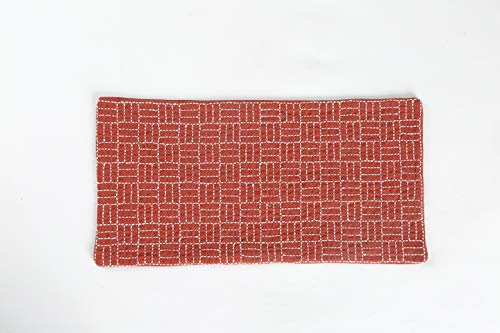 Handgemaakte genageld onderzetters, thee matten, koffie matten, opslag matten Donker rood gemetselde gastheer Pad