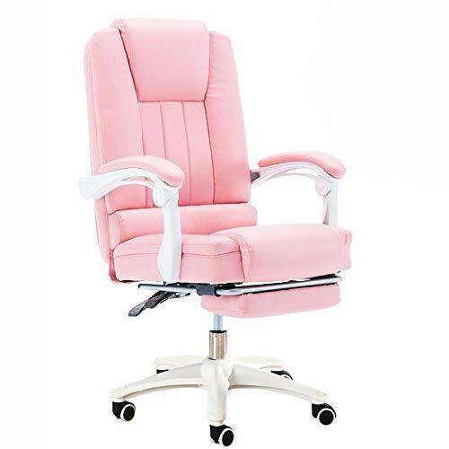 LJFYXZ Fauteuil De Direction Siège Ergonomique Chaise Patron Simple Sédentaire Confortable Chaise de Jeu Accoudoir Monobloc Remplissage d'éponge Chaise Longue Portant Poids 200 kg (Couleur : Pink)