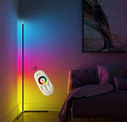 WFWPY LED Stehlampe Dimmbar mit Fernbedienung 20W Stehleuchte Leselicht für Wohnzimmer Schlafzimmer Farbwechsel Lichtsaeule RGB Farbtemperaturen und Helligkeit Stufenlos Dimmbar