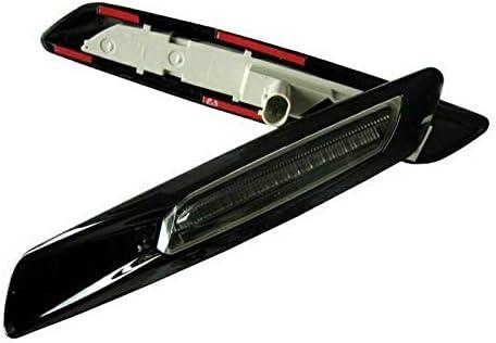 XTAUTO Amber LED Side Marker Turn Signal Light Lamp for BMW 3 Series E90 E91 E92 E93 E46 E53 X3 E60 E61 E83 X1 E84 E81 E82 E87 E88 Black 2-pack