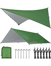 OTraki Camping Tarp Hangmat Regen Fly Tent Tarp Waterdicht Winddicht Sneeuwdicht Camping Dekzeil Shelter Tent Luifel Draagbare Lichtgewicht Zonnescherm voor Yard Outdoor Reizen Strand