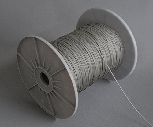ps FASTFIX 20 Meter Zugschnur (grau) für Jalousien mit 25 mm Lamellen - Jalousieschnur – ohne Rolle