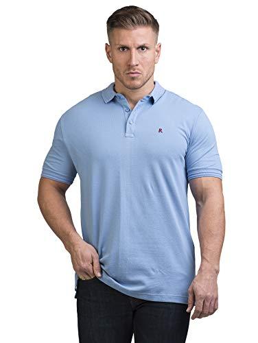 Rosenberg Polo Shirts Herren aus 100% Pique Baumwolle I Poloshirt Herren Classic in Blau Grün und Weiß I Deutsche Marke (XL, hellblau)