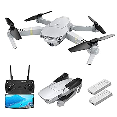 EACHINE E58 PRO Drone with camera 1080p for Adults and Kids Drone with 1080p camera Wide Angle, WIFI FPV, Trajectory Flight, Headless Mode, Altitude Hold Easy Drone for Beginners (2 Batteries)