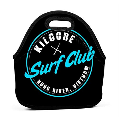Apocalypse Now Kilgores Surf Club Reusable Lunch Tote Bag Waterproof Picnic Lunch Box for School Road Walking and Office- Waterproof/Warm/Cooler