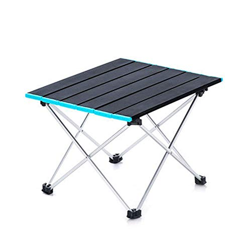 Folding table Portable camping table aluminum alloy lightweight easy to carry, suitable for outdoor picnic beach hiking black, gray