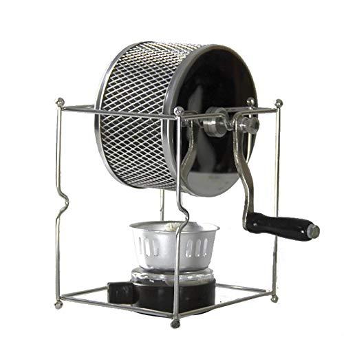 Máquina de tostador de café Máquina de acero inoxidable de acero inoxidable Máquina de asar de frijol de la mano DIY PEQUEÑO Máquina de asado de frijoles Frijoles Máquina de frijoles Calefacción (Colo