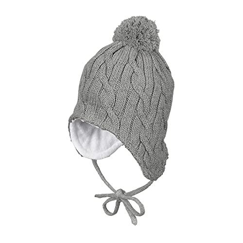 Sterntaler Unisex Baby Adventure-socks Krabbe Beanie Hat, silber mel., 45 EU