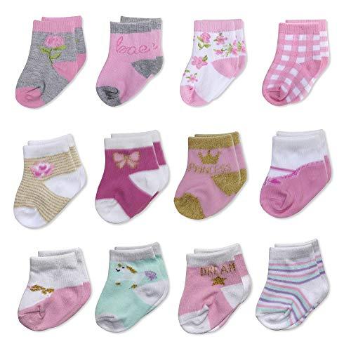 Calcetines para bebé de 3 a 6 meses, 6 a 9 meses, 12 a 18 meses, 12 a 18 meses, Paquete de 2, 3-9 Meses