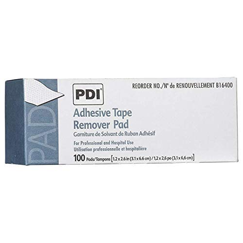 1131957 PT# B16400 Pad Adhesive Tape Remover 100 Count 1-1/4x2-5/8' Bx Made by PDI Professional Disposables