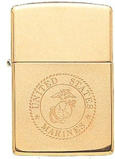 US Marine Solid Brass EGA Logo USMC Military Zippo Lighter