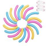 Coobbar 100pcs Eyelash Curler Replacement Pads Silicone Rubber Eyelash Curler Refills for Universal Eyelash Curler