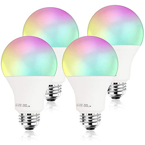 [2020 Upgrade] 100W Equivalent Smart LED Light Bulb 2.4G(Not 5G) A21 by 3Stone, WiFi App Controlled UL Listed, Dimmable Warm White and RGB Colors, Works Perfect with Amazon Alexa Google Assistant