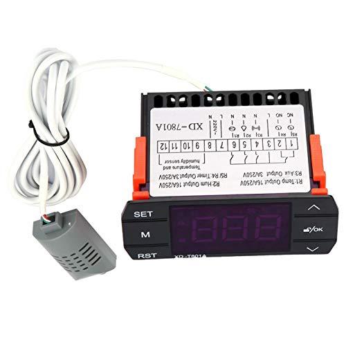 Sistema de control de incubadora Pantalla LED Termostato de deshumidificación Controlador de temperatura para controlar la temperatura