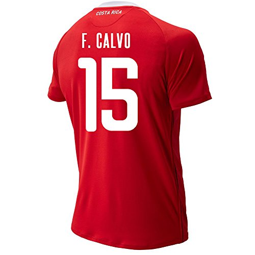 New Balance F. Calvo #15 Costa Rica Home Soccer Men's Jersey FIFA World Cup Russia 2018 (XL)