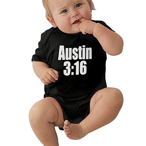 Infant Stone Cold Kevin Love Rocking Austin 3:16 Cute Baby Onesie Bodysuit Black 3M