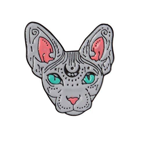 Vektenxi Premium-Qualität Mode Männer Frauen Katze Revers Brosche Emaille Mantel Jacke Denim Abzeichen Schmuck Geschenk für Schal, Krawatte, Hut, Mantel oder Tasche