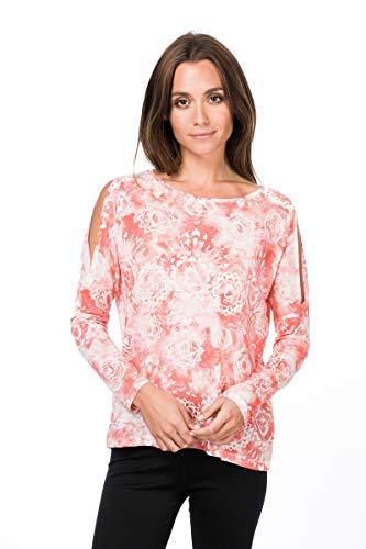 super.natural Jonser T-Shirt à Manches Longues en Laine mérinos pour Femme XS Fresh White/Georgia Chakra Print