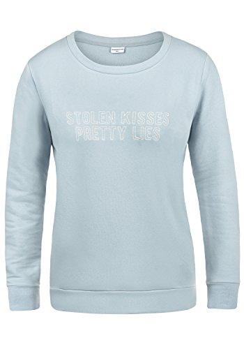 ONLY Taylor Damen Sweatshirt Pullover Sweater Mit Rundhalsausschnitt Und Fleece-Innenseite, Größe:M, Farbe:Celestial Blue