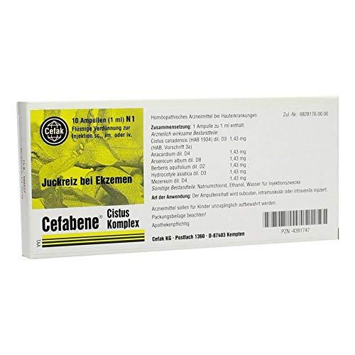 CEFABENE Cistus Komplex Injektionslösung 10X1 ml
