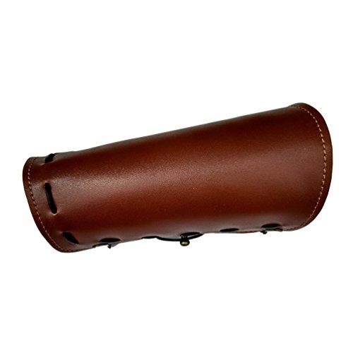 Nideen - Protector de Brazo de Arco para Tiro, Cowhide, marrón