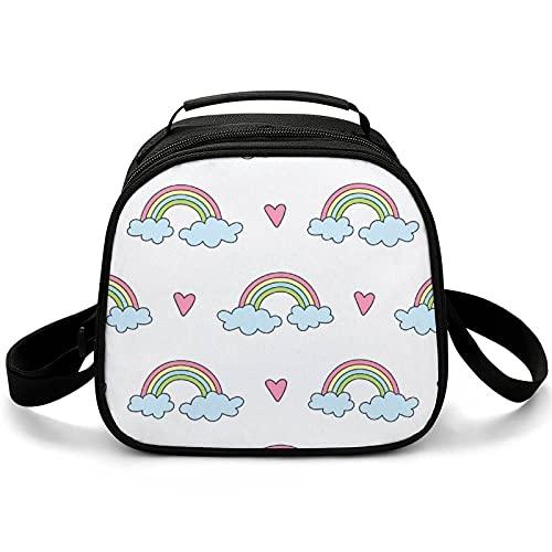 Bolsa Almuerzo Infantil Arco Iris Multicolor Bolsa Térmica Para El Almuerzo Portátil Lunch Bag Para Escuela Viaje Picnic 20x12.5x20cm