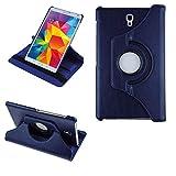 COOVY® 2.0 Cover für Samsung Galaxy TAB S 8.4 SM-T700 SM-T701 SM-T705 Rotation 360° Smart Hülle Tasche Etui Hülle Schutz Ständer | dunkelblau