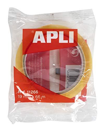 APLI–Nastro adesivo Sacchetto trasparente 19 mm x 66 m