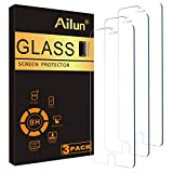 Ailun 0.25mm Glass Screen Protector Compatible for iPhone SE 2020 2nd Generation, iPhone 8,7,6s,6, 4.7-Inch 3 Pack Clear