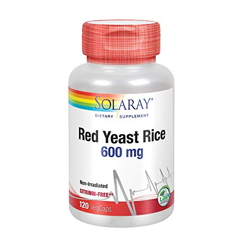 Solaray Red Yeast Rice 600mg   Healthy Heart & Cardiovascular System Support   Non-Irradiated & No Citrinin   Lab Verified   120 VegCaps