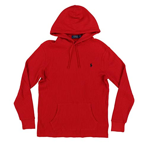 Price comparison product image Polo Ralph Lauren Mens Hooded Waffle Knit T-Shirts (XX-Large,  Red)