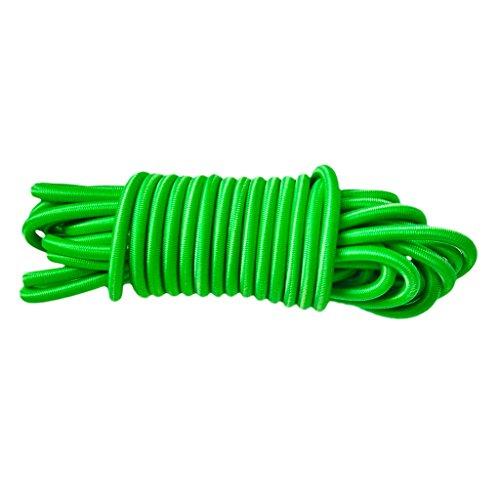 MagiDeal Sandow Tendeur Corde Elastique en Latex Anti-UV pour Barres de Toit,Remorques,Bâche,Bateaux,Kayak -4mmx5m - Vert, Taille Unique