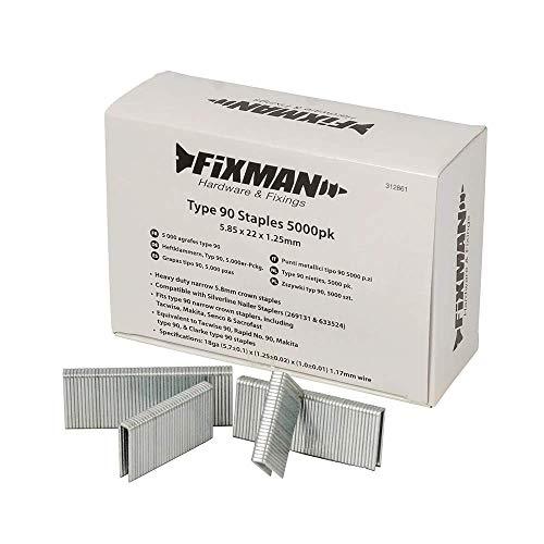 Fixman 947082 5 000 agrafes type 90 5,85 x 16 x 1,25 mm