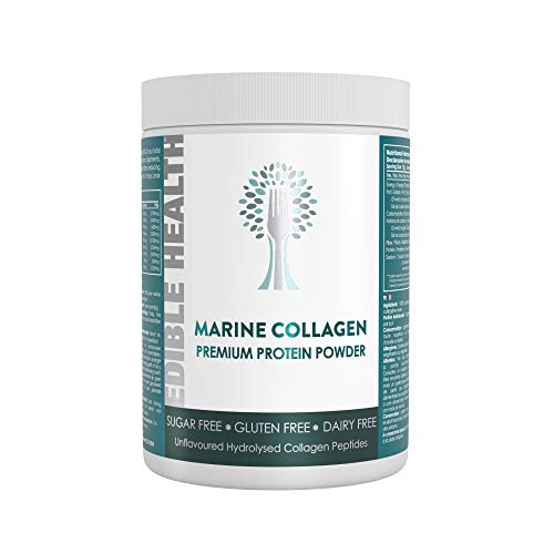 Premium Marine Collagen Powder. 13,000mg, £1 per Day, 13x Stronger Than Capsules + Liquids. Fast Acting Hydrolysed Protein Peptides from EU. 18 Aminos. Paleo, Keto, Kosher, Halal. 30 Day, 400g tub