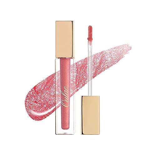 Oulac Lipgloss Durchsichtig Glossy,Reich an Feuchtigkeit, Glassy Cosmetics,Lippenvergrößerung, Lip Plumper Comfort Oil, Lip Überlack, 4.5 ml, Pink Glam (C06)