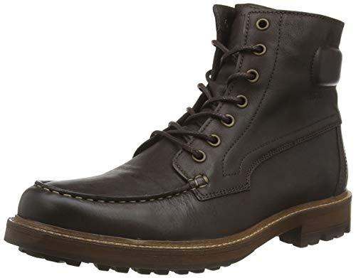 Aigle Herren Licourt High Biker Boots, Braun (Darkbrown 001), 43 EU