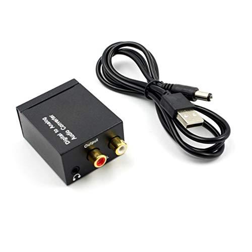 SZYZ 3.5Mm Jack Coaxial Fibra óptica Digital a analógico Audio Aux...