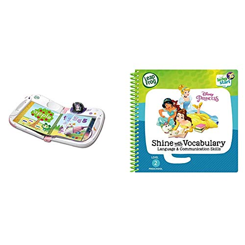 LeapFrog 603953 LeapStat Holo Pink Leap Start Learning Toy, One Size & Leapstart Preschool: Disney Princess Shine with Vocabulary Activity Book (3D Enhanced)
