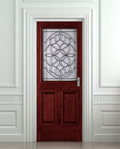 Deurfolie 3D Deurfolie Diy 3D Muursticker Muurschildering Home Decor Houten Poort Entree Verwijderbare Deur Sticker Decole 77 * 200Cm