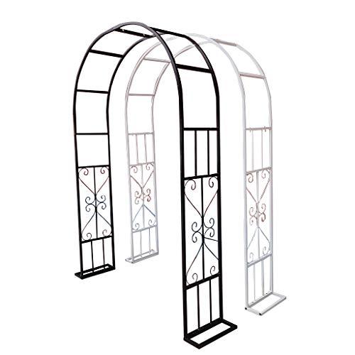 WRJ@ Arco De Jardín,Arco de Flores En Estilo Rústico   Arco De Rosas para Jardín con Florales Motivos   Arco Decorativo para Eventos En Metal Pulverizado