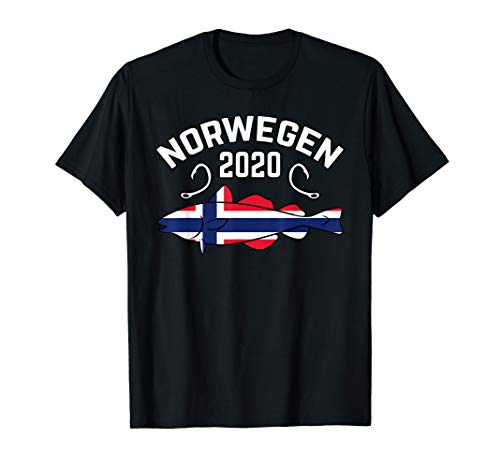 Dorsch Angelurlaub Flagge Angler Kabeljau Reise Geschenk T-Shirt