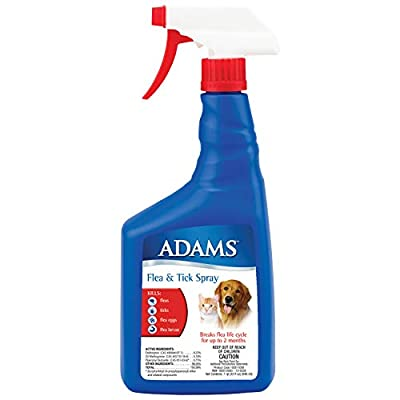 Adams Flea and Tick Control Spray for Cats and Dogs 32 ounces