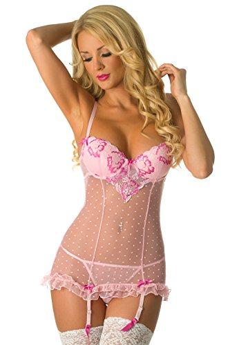 Velvet Kitten Second Date Pink Sexy Chemise Lingerie Set for Women #514547 (XL, Pink)