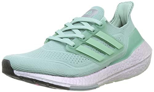 adidas Ultraboost 21 W, Zapatillas para Correr Mujer, Hazy Green Hazy Green Blue Oxide, 38 EU