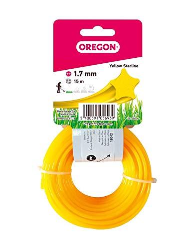 Oregon 69-440-Y Yellow Star-Hilo para desbrozadora (1,7 mm x 15 m), 1.7mm x 15m
