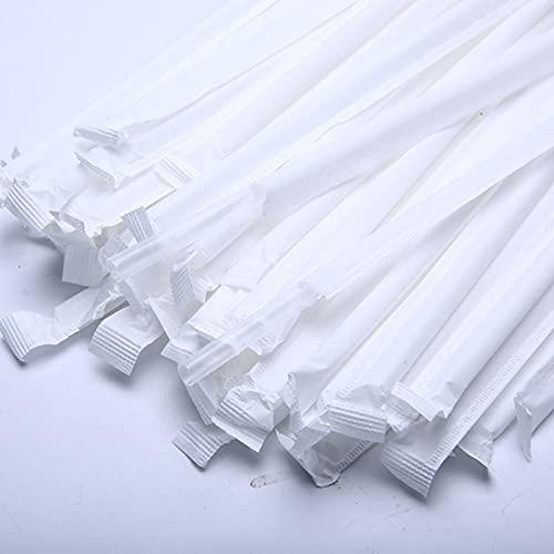 1000 pajitas de plástico, pajitas de plástico coloridas, pajitas de plástico desechables, palitos de remojo de cócteles de café, pajitas de decoración de fiesta, papel individual envuelto,Transparente