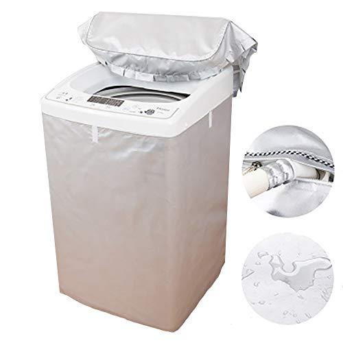 Cubierta para lavadora, cubierta para lavadora y secadora de carga superior, cubierta para lavadora resistente al agua, a los rayos UV y al polvo, tela Oxford más gruesa