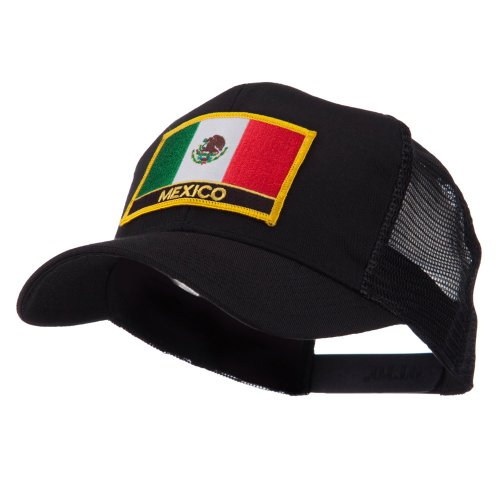 North and South America Flag Letter Patched Mesh Cap - Mexico OSFM