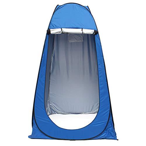 Abaodam Tienda de pesca sin tragaluz al aire libre Cambiador automático de ropa tienda portátil móvil WC Cambiador de ropa habitación para pesca, camping uso (azul)